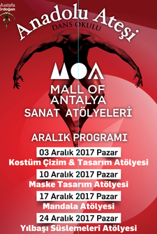 Mall Of Antalya Sanat Atölyeleri Etkinlik Takvimi - Aralık 2017
