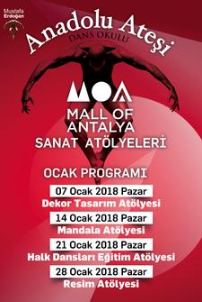 Mall Of Antalya Sanat Atölyeleri Etkinlik Takvimi - Ocak 2018