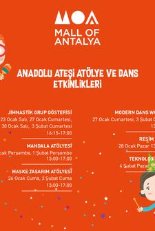 Mall Of Antalya Sanat Atölyeleri Etkinlik Takvimi - Şubat 2018