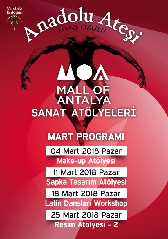 Mall Of Antalya Sanat Atölyeleri Etkinlik Takvimi - Mart 2018