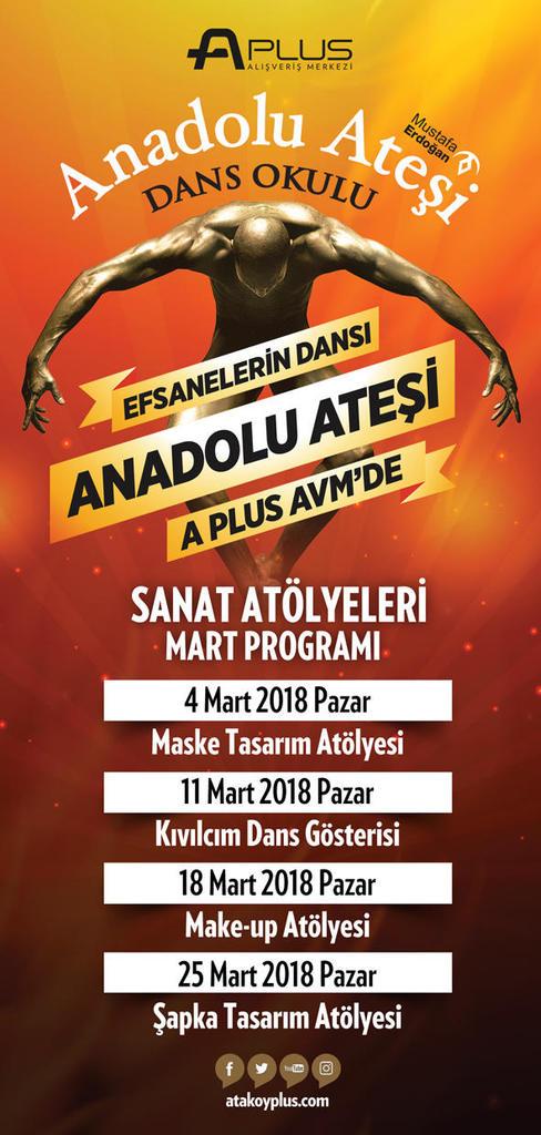A Plus AVM Sanat Atölyeleri Etkinlik Takvimi - Mart 2018