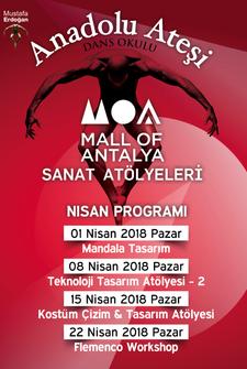 Mall Of Antalya Sanat Atölyeleri Etkinlik Takvimi - Nisan 2018